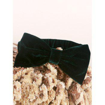 Velvet Bowknot Elastic Plain Hairband - BLACKISH GREEN BLACKISH GREEN