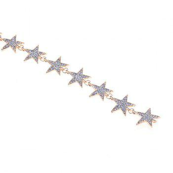 Rhinestone Alloy Star Necklace - SILVER