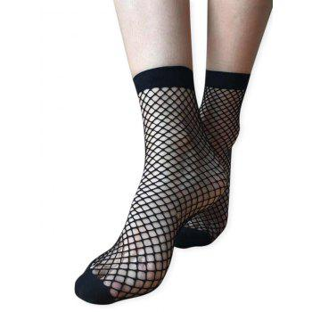 Mesh Oversized Fishnet Ankle Socks