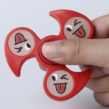 Glow In The Dark Emoticon Fidget Spinner -  RED