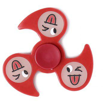 Glow In The Dark Emoticon Fidget Spinner - RED RED