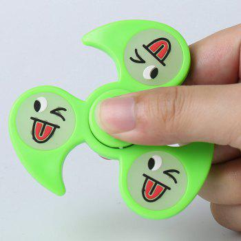 Glow In The Dark Emoticon Fidget Spinner - Vert