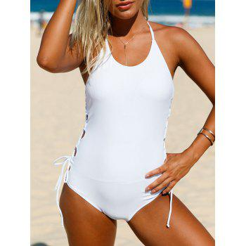 Halter Lace-Up One Piece Junior Swimsuit