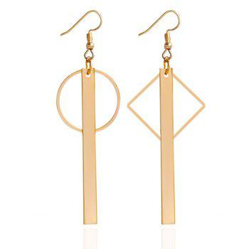 Bar Round Rhombus Hook Earrings