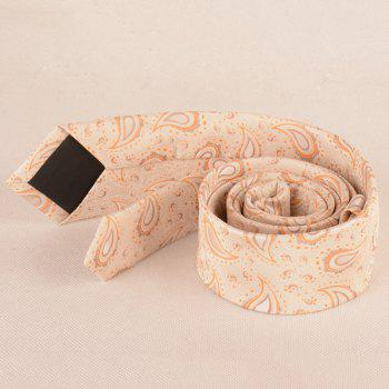Jacquard Fabric Paisley Pattern Neck Tie -  LIGHT YELLOW