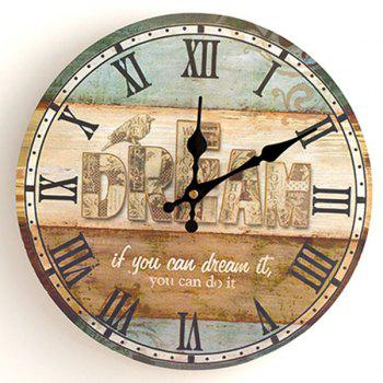 Dream Analog Wood Wall Round Clock