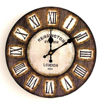 Analog Round Wooden Decorative Wall Clock