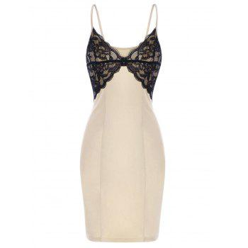 Lace Trim Bodycon Mini Slip Dress