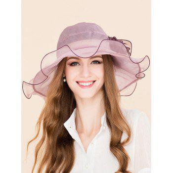 Mulberry Silk Flower Design Flouncing Sun Hat