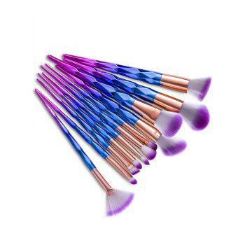 12Pcs Gradient Color Taper Angular Makeup Brushes Kit
