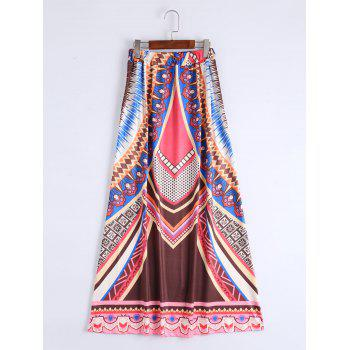 Bohemian High Waisted Maxi Skirt