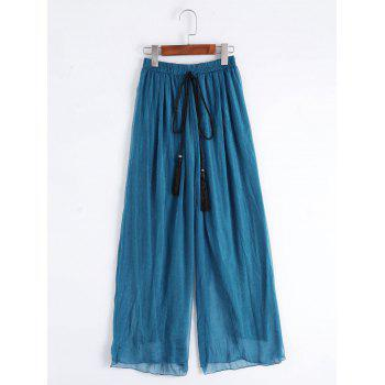 High Waisted Tassels Wide Leg Pants