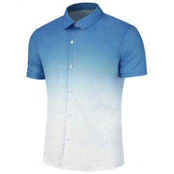 Slim Fit Ombre Print Casual Shirt