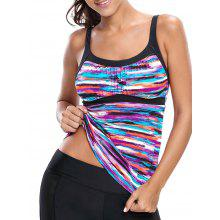 Multi-color Striped Push Up Swim Top