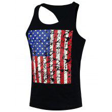 4th of July Distressed American Flag Tank Top