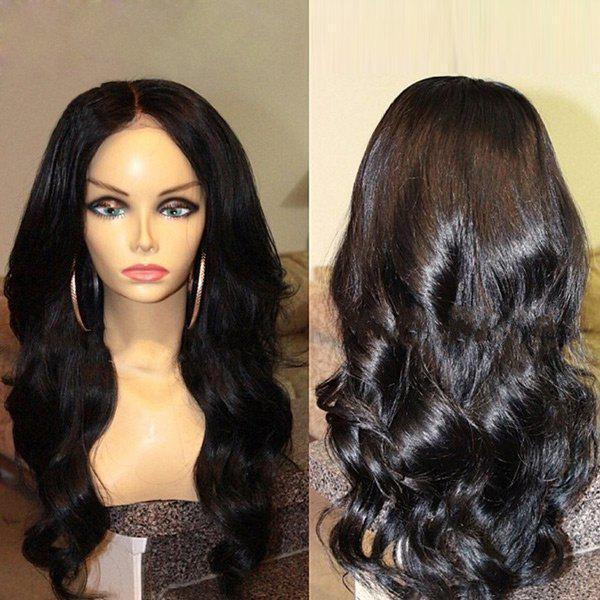 Middle Parting Long Body Wave Synthetic Wig long middle parting fluffy body wave synthetic wig