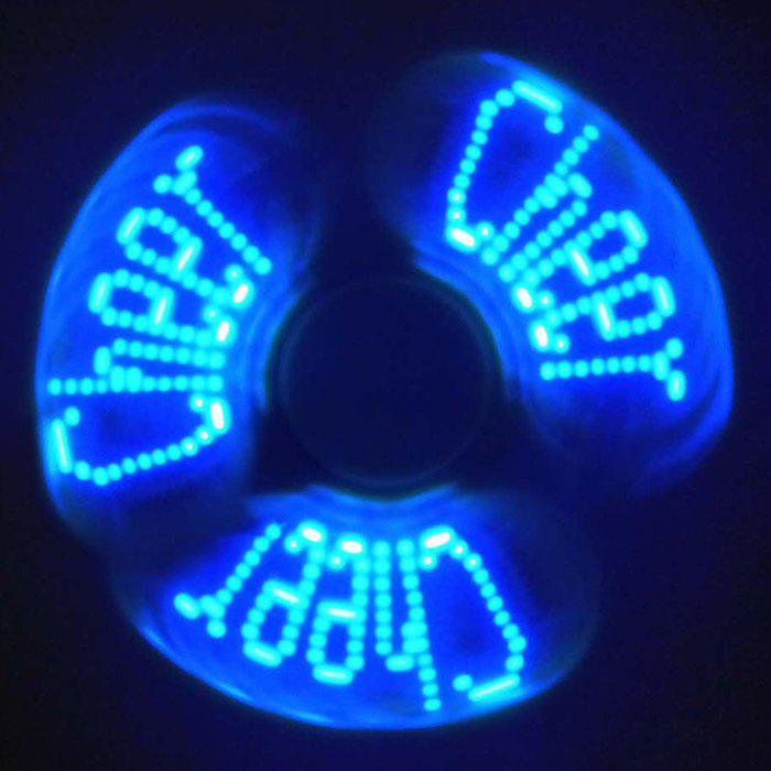 Stress Reliever Letters LED Fidget Spinner - Rouge