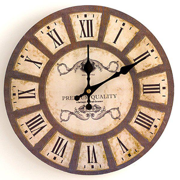 Analog Wood Round Wall Clock - WOOD 50*50CM