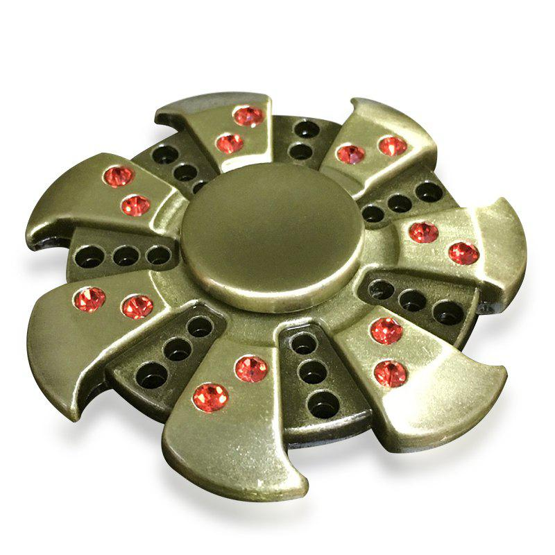 Fiddle Toy Rhinestone Wheel Fidget Metal Spinner fidget toy gilt edged wheel finger spinner