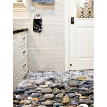 3D Vinyl Stone Stream Floor Sticker - multicolorCOLOR 50*70CM