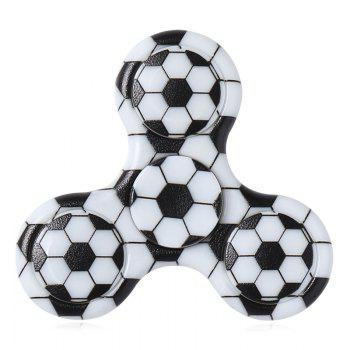 Plastic Tri-bar Soccer Patterned Fidget Spinner