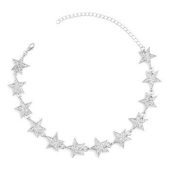Star Rhinestoned Choker Necklace