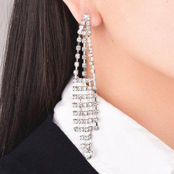 Rhinestoned Tassel Drop Earrings