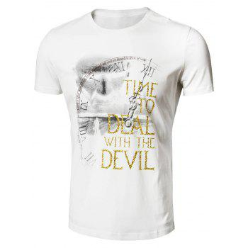 Face Print Graphic T-Shirt