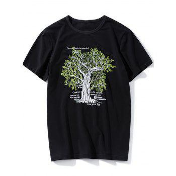 Tree Print Graphic T-Shirt