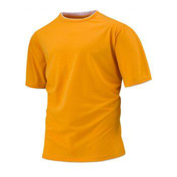 Layered Collar Slim Fit T-shirt