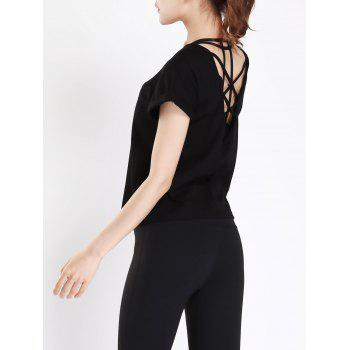 Active Back Criss Cross Caged T-shirt