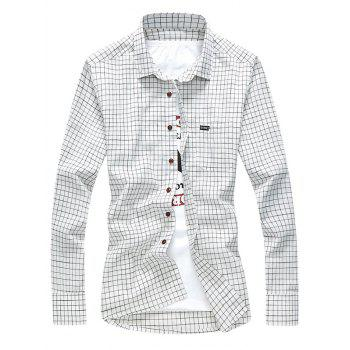 Slim Grid Check Long Sleeve Shirt