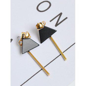Triangle Geometric Bar Front Back Earrings