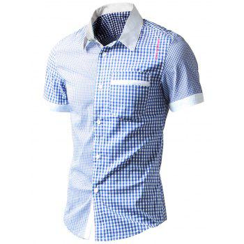 Asymmetric Gingham Pocket Shirt
