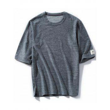 Space Dyed Half Sleeve Crew Neck Tee