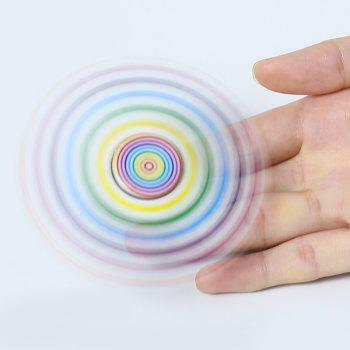Focus Toy Plastic Patterned Fidget Spinner - multicolorcolore