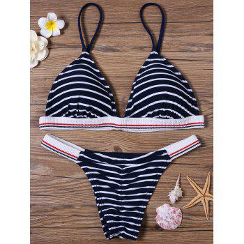 Padded Striped Bikini Set