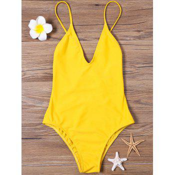 Open Back High Cut One-piece Swimsuit