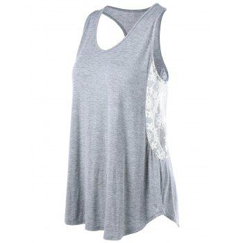 Voile Panel Racerback Swing Tank Top