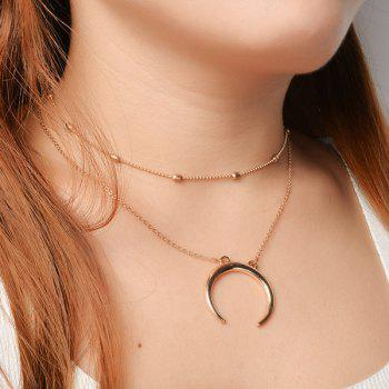 Chain Moon Collarbone Necklace Set