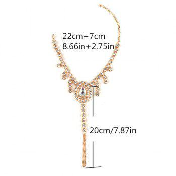 1PC Rhinestone Faux Gem Teardrop Slave Anklet -  GOLDEN