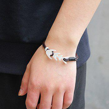 Artificial Leather Fishbone Bracelet