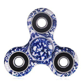 Blue and White Porcelain Patterned Fidget Spinner