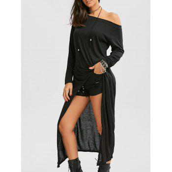 Off The Shoulder High Low T-shirt Dress