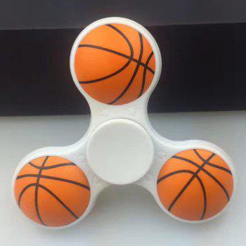 Fiddle Toy Plastic Basketball Fidget Spinner - WHITE