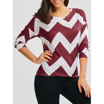 Zigzag High Low Hem T-Shirt