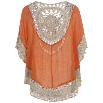 Hollow Out Tunic Crochet Cover Up Top - ONE SIZE ONE SIZE