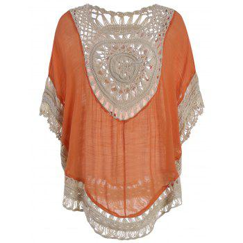 Hollow Out Tunic Crochet Cover Up Top - JACINTH ONE SIZE