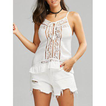 Lace Trim Chiffon Cami Top