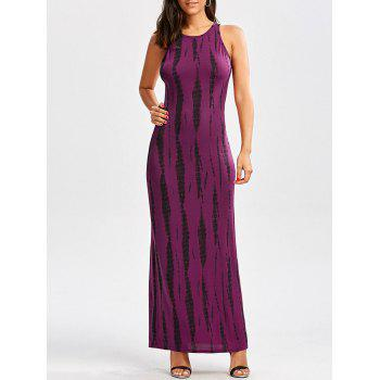 Cut Out Tie Dye Maxi Dress